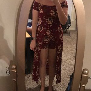 Floral Romper with Maxi-overlay